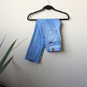 7FAM The Skinny Crop And Roll Hem Jeans size 26